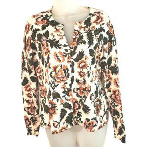 Ann Taylor Factory Cotton Floral Summer Cardigan